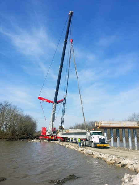 Liebherr LTM 1400, Setting Bridge Beams