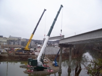 Grove GMK 7550 Liebherr LTM 1300 Bridge Project Jim Beam Plant Ky