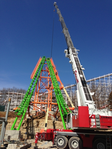 Liebherr LTM 1250 Roller Coaster Six Flags St Louis Mo
