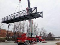 Liebherr LTM 1220, Setting a Pedestrian Bridge