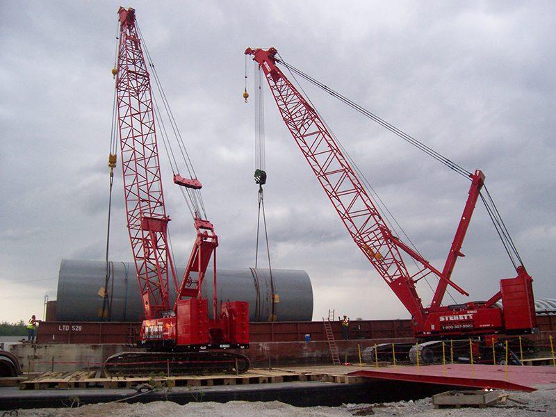 Kobelco 2500 & 1600, Unloading Base