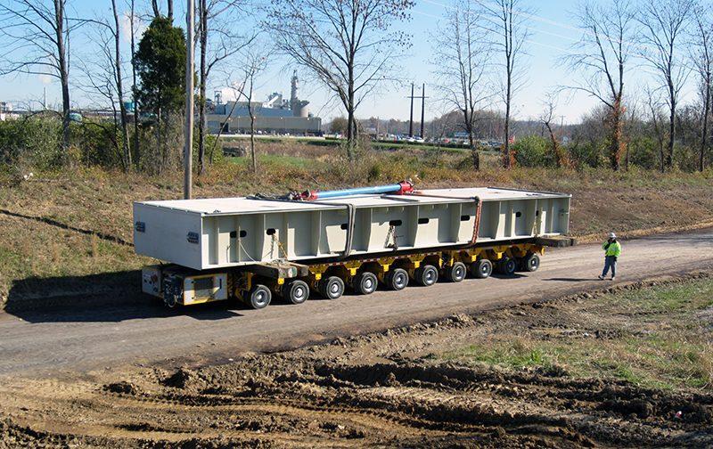 Canelton Lock & Dam Project, Transporting
