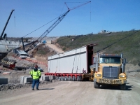 Canelton Lock & Dam Project, Transporting