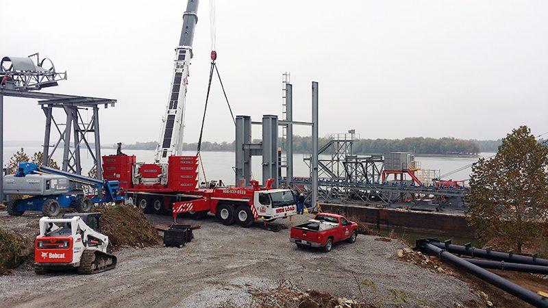 Liebherr LTM 1400, Setting Conveyor