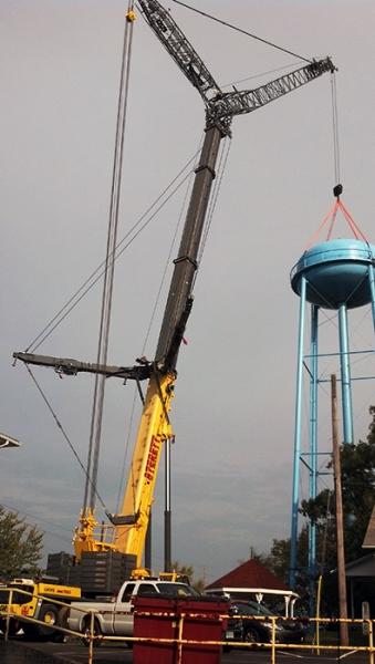 GMK 7550, Setting Water Tank