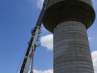 Liebherr LTM 1250, Water Tower Work