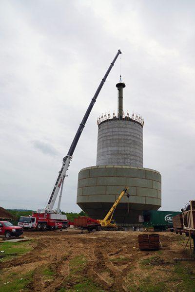Liebherr LTM 1250, Water Tower Work