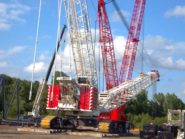 Calvert City, two Sterett cranes